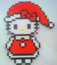 Santa Hello Kitty - Christmas hama perler beads by Susanne Damgård Sørensen