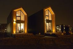 Skinny Portable Home for Singles  is a movable building design for single home households that takes only a day of set-up by  heijmans.nl/en/heijmans-one/