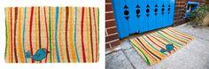 Little Groovy Bird Hand Woven Coconut Fiber Doormat