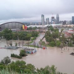June Saddledome, Calgary, Alberta *my heart broke* O Canada, Alberta Canada, Canada Lifestyle, Strange Weather, Natural Disasters, Calgary, Wonders Of The World, Mother Nature, Places To See