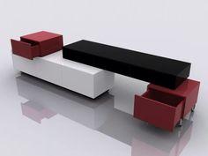 moderno centro de entretenimiento modular minimalista