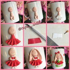 🐰🌺🌿А вот и процесс создания зайки МиМи🌿🌺🐰. Цена кружечки 6️⃣0️⃣0️⃣руб #впроцессе #процессработы #поэтанаяработа #поэтапно #cups_with_love_MK Polymer Clay Miniatures, Polymer Clay Creations, Polymer Clay Crafts, Diy Clay, Polymer Clay Earrings, Clay Mugs, Ceramic Clay, Cute Mug, Polymer Clay Halloween