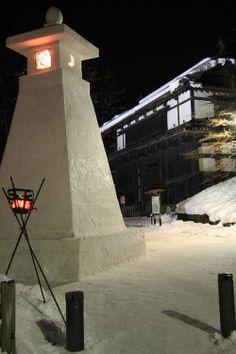 Hirosaki Castle Snow Lantern Aomori Prefecture, Japan.