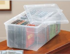Charmant This Iris Media Box Provides A Convenient Way To Keep Your DVD Or CD  Collection Stored And Organized.