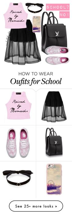 """""""Last Day of School"""" by michellaallifinda on Polyvore featuring Simone Rocha, Vans, Casetify, Mateo, no, school and Pink"""