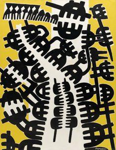 Giuseppe Capogrossi. Surface 210 (Superficie 210). 1957 - Guggenheim Museum