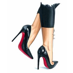 #Heels4Life #FashionIllustrations @elzafoucheartist  Be Inspirational ❥ Mz. Manerz: Being well dressed is a beautiful form of confidence, happiness & politeness