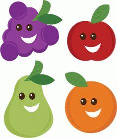 View Design: happy fruit set