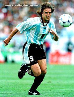 Gabriel Batistuta, who played in three Fifa World Cups (1994 - 1998 - 2002) with Argentina