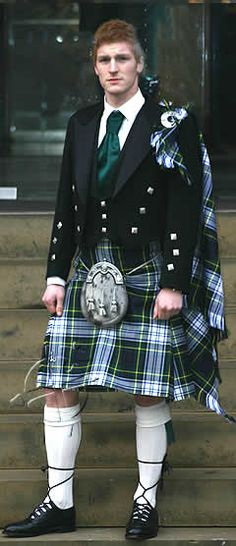 formal attire--only dress tartans have white in them