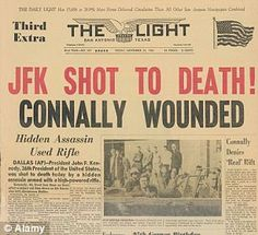 *BREAKING NEWS:   Kennedy's death caused headlines and was the longest period of uninterrupted news on television until 9/11