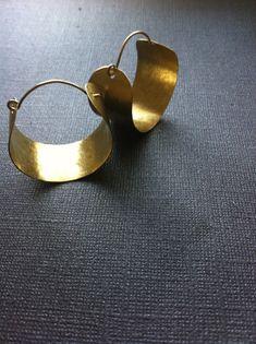 Hammered Wide Brass Hoops medium by Jazjewelz on Etsy, $20.00