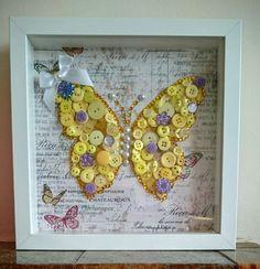 Butterfly button craft