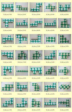 Rubik's Snake - 2D: six quadratics, without hole