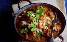 Lamb, kumara and almond curry