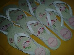 Chinelo personalizado para o dia das mães!