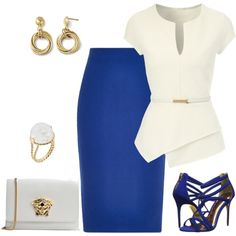 outfit 2454 by natalyag on Polyvore featuring Jane Norman, River Island, Ted Baker, Versace and Aurélie Bidermann