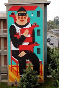 El arte urbano de Agostino Iacurci