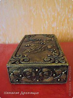 Декор предметов Шкатулка с птичкой Картон гофрированный Материал бросовый фото 5