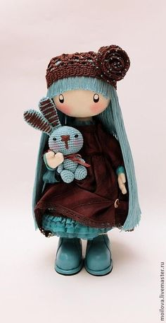 Купить Текстильная кукла Мими (шоколадно-бирюзовое бохо) ... - интерьерная кукла, текстильная кукла