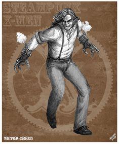 Sabretooth Steampunk Redesign by *sketcheronline on deviantART