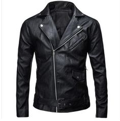 Good price Brand New Mens Slim Leather Jacket Male Large Size Casual Motorcycle Jacket Black/White Spring And Autumn Coats Jackets J1108 just only $27.02 with free shipping worldwide  #jacketscoatsformen Plese click on picture to see our special price for you