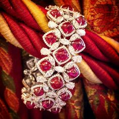 By @faideeofficial #ruby #diamonds #bracelets #mm_mucevhermagazin