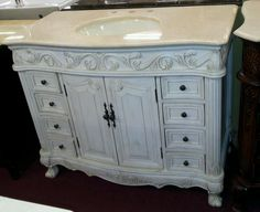 verena antique white finish wood country victorian style wash
