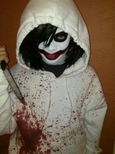 diy scary jeff the killer costume/makeup - Google Search