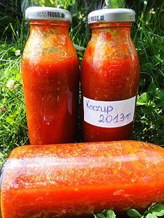 Kuchnia Pod Lipami: Przetwory z pomidorami 2013 r. Ketchup, Hot Sauce Bottles, Pickles, Salsa, Jar, Food, Essen, Salsa Music, Meals