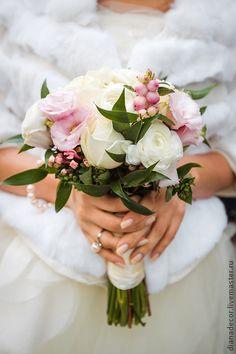 Букет невесты в нежно-розовом цвете. Handmade.