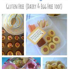 Gluten Free (Dairy & Egg Free) Mini Corn Dog Muffins