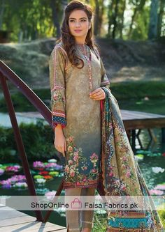 c19d7c1454 45 Best Pakistani lawn 3 pics suits images in 2018 | Punjabi Suits ...