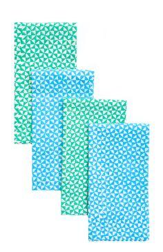 Pinwheel Block Printed Napkin Set  // 36