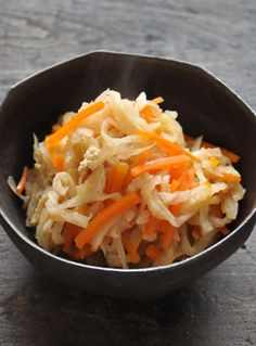 Recipe: Simmered Kiriboshi Daikon (Dried Radish Strips), Typical Side Dish of Japanese Home Cooking|切干大根の煮物