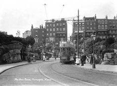 tram in Ramsgate, England. Edwardian seaside