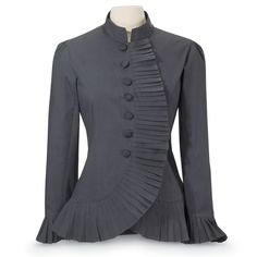 The Pyramid Collection - Pleated Ruffle Jacket - Women's Clothing & Symbolic Jewelry – Sexy, Fantasy, Romantic Fashions Pyramid Collection, Look Office, Unique Clothes For Women, Mode Inspiration, Designer Dresses, Jackets For Women, Fashion Dresses, Tunic Tops, Couture