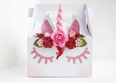Unicorn Gable  Box/Valentines Day/Valentines Day Box/Party