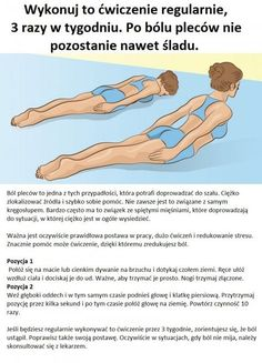 Wykonuj to ćwiczenie regularnie, 3 razy w tygodniu. Po bólu pleców nie pozostanie nawet ślad... Neck And Shoulder Exercises, Back Exercises, Keep Fit, Stay Fit, Yoga Fitness, Health Fitness, Heath And Fitness, Holistic Remedies, Biologique