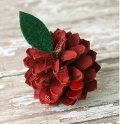 Autumn's arrival means there are pine cones to spare! Grab a few and turn them into these rustic and oh-so-charming Painted Pine Cone Apples | AllFreeKidsCrafts.com