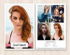 64 Best Model Comp Card Template Images Model Comp Card Card