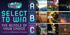 It's BundleFest and 30 Steam bundles are available right now with more landing all week! To celebrate, here's your chance to win the dream Steam bundle of your choice. Simply pick which one you want to enter the contest. Complete more actions for more chances to win!10 lucky winners will be picked on the 28th February... good luck everyone!