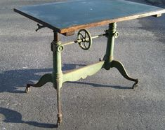 19th century french drafting table with original paint c1880 i am in love with this