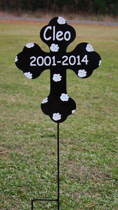 Custom Metal Cross for Easter, Pet Grave Marker, Decorative Yard Garden Flag