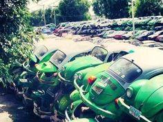 abandoned Vw Bus, Volkswagen Transporter, Vw Volkswagen, Junkyard Cars, Vw Pickup, Rust In Peace, Vw Vintage, Weird Cars, Crazy Cars