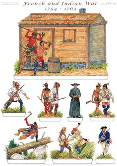 French and indian Native American Art, American History, Independence War, Woodland Indians, Seven Years' War, Le Far West, Vintage Paper Dolls, Medieval, Toy Soldiers