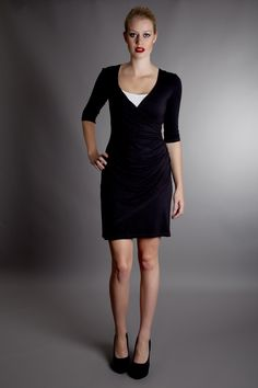 Gorgeous black bamboo dress from Shekila Eco Fashion.