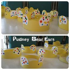 Our toddler group runs on a Friday so every year we always donate the takings to Children in Need and do a Pudsey Bear themed craft, and for the past four year
