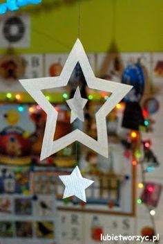 Tekturowa gwiazdka w wersji DIY   #gwiazdki #śnieżynki #święta #dekoracje #stars #star #christmas #decorations #śnieżynki #snowflakes #diy #zróbtosam #handmade #tutorial #poradnik #jakzrobic #howto #instrukcja #instruction #craft #crafts #papercraft #papercrafts #lubietworzyc