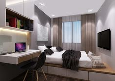 Great concept of maximizing space for small room
